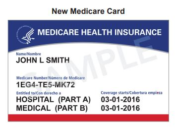 Sample Medicare card from CMS