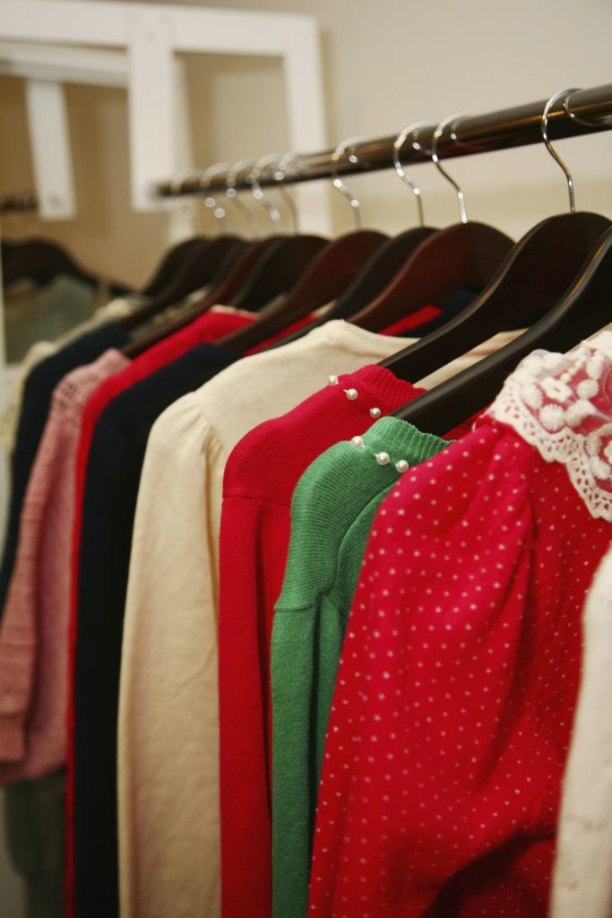 women's adaptive clothing for seniors on a clothes rack